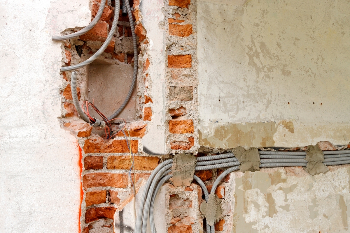 Concealed conduit electrical wiring