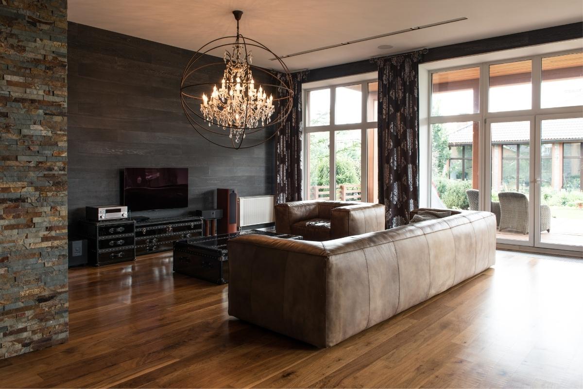 SPC flooring for luxury living room