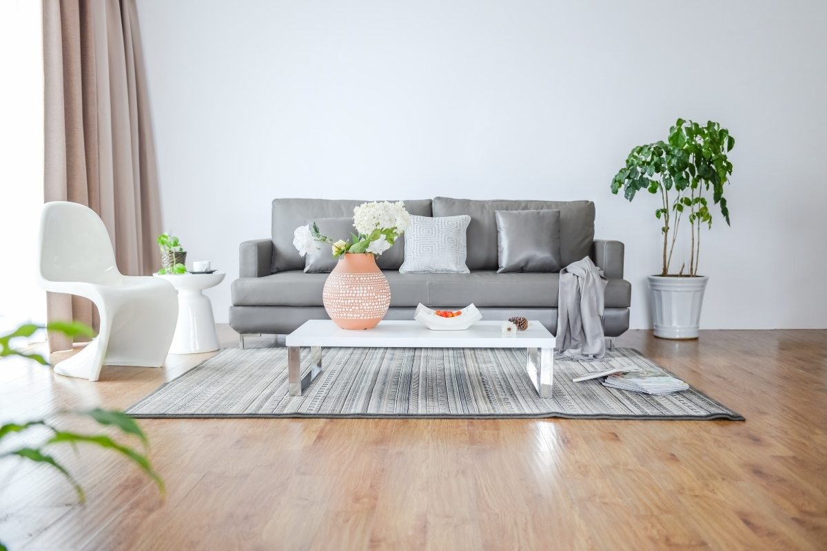 SPC flooring for simple living room