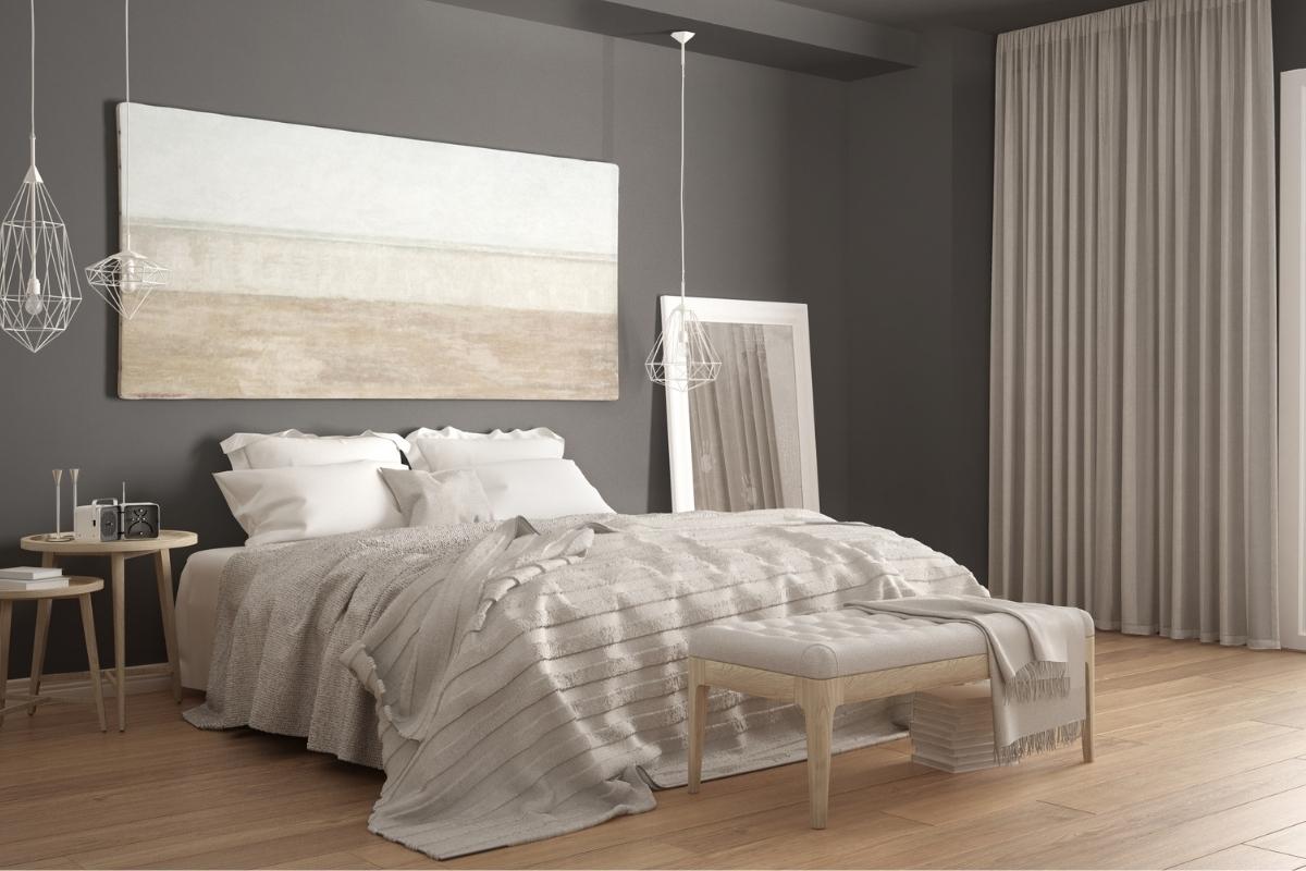 SPC flooring in the bedroom