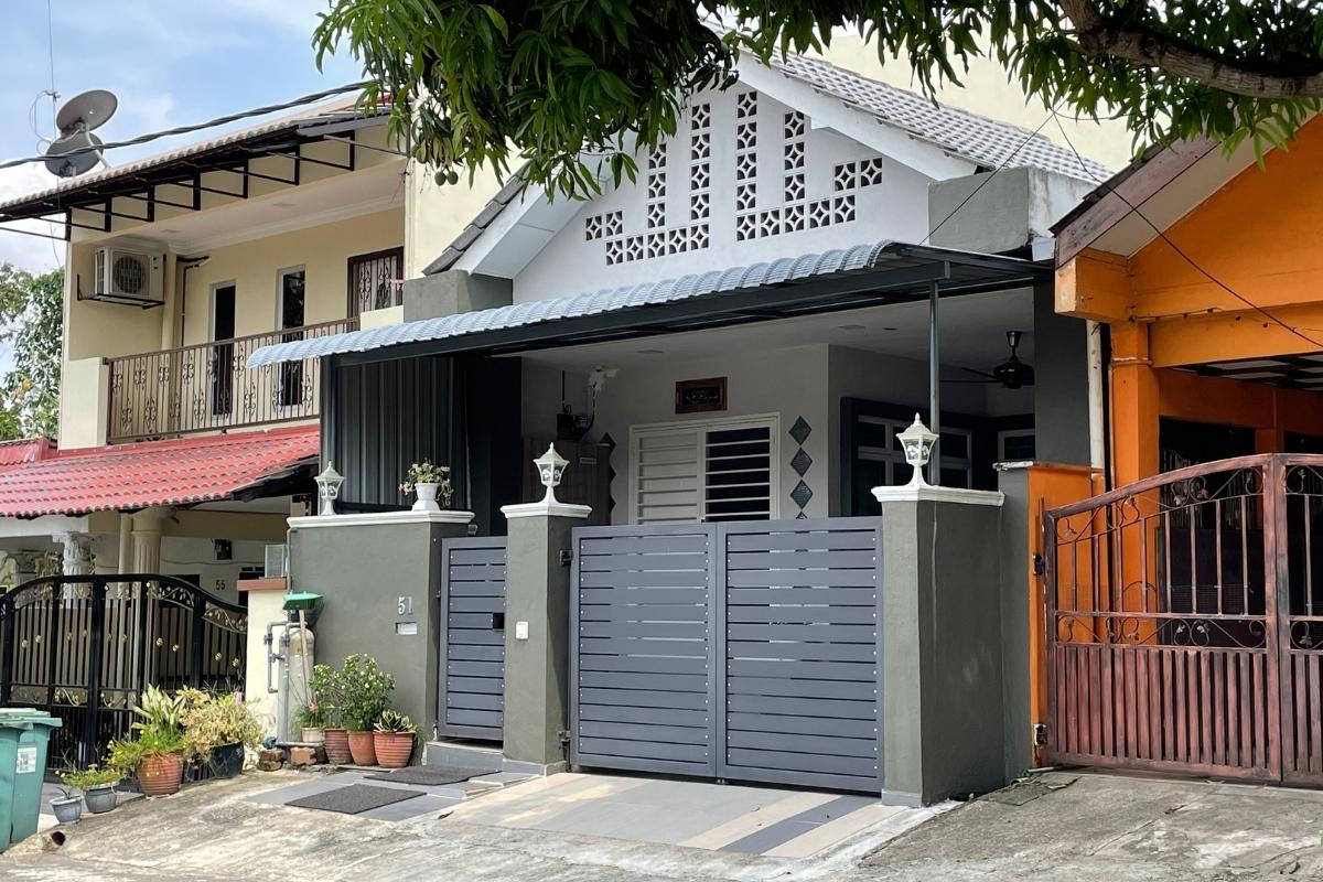 car porch renovation for terrace house