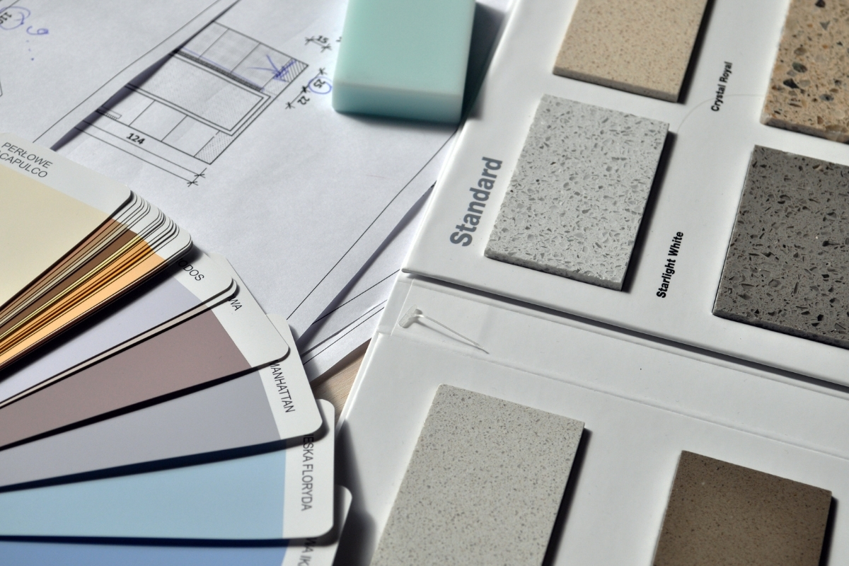 interior design for landed house in KL and Selangor color and Material selection