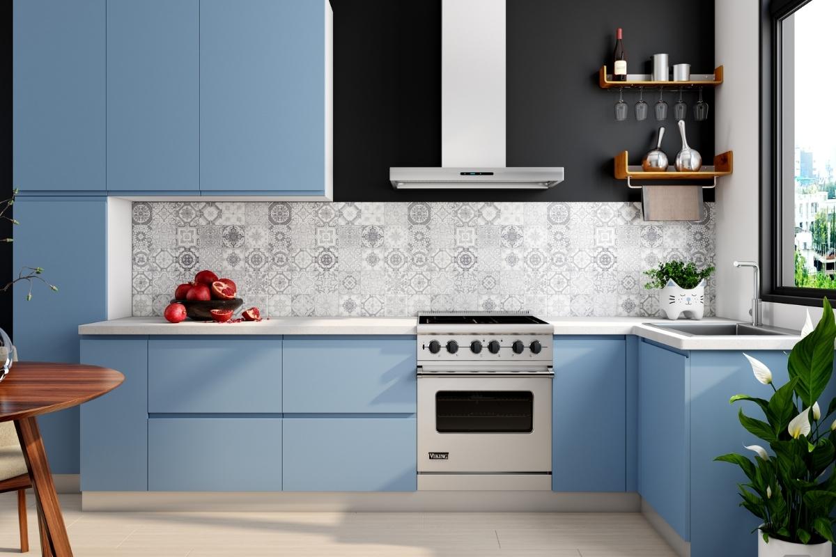 kitchen renovation idea bold color